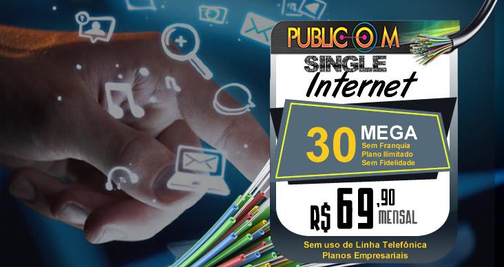 <p><strong>Assine agora e aproveite a melhor banda larga de Rio das Ostas!</strong> Com o pacote internet 30 megas você navega com uma taxa de 30 megas de download e 15 megas de upload a vontade! É isso mesmo 24 horas por dia 7 dias por semana sem franquia, pois a Publicom pensou no seu bem estar lhe oferecendo um plano de internet ilimitada sem sustos em sua conta, você não paga nada além do contratado!</p>